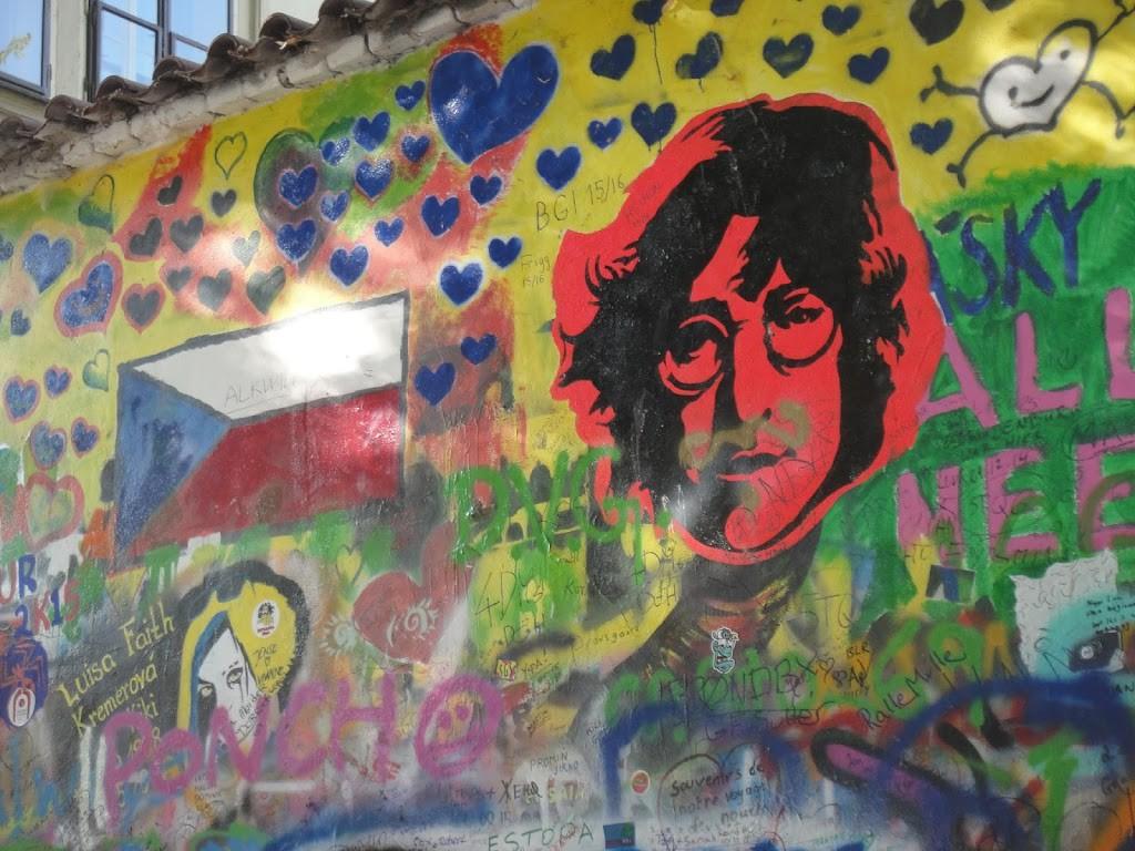 Lennon Wall. Prague