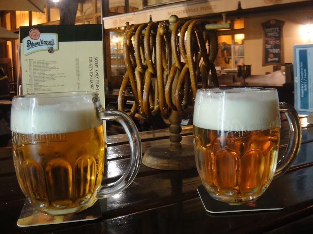 Pilsner Urquell and Pretzels (not free)