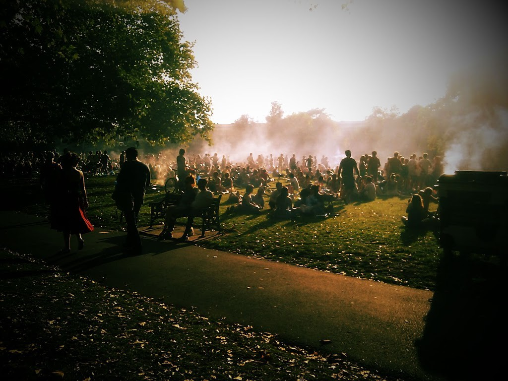 London Fields's BBQ area