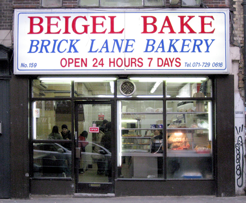 Brick Lane Market. Beigel shop