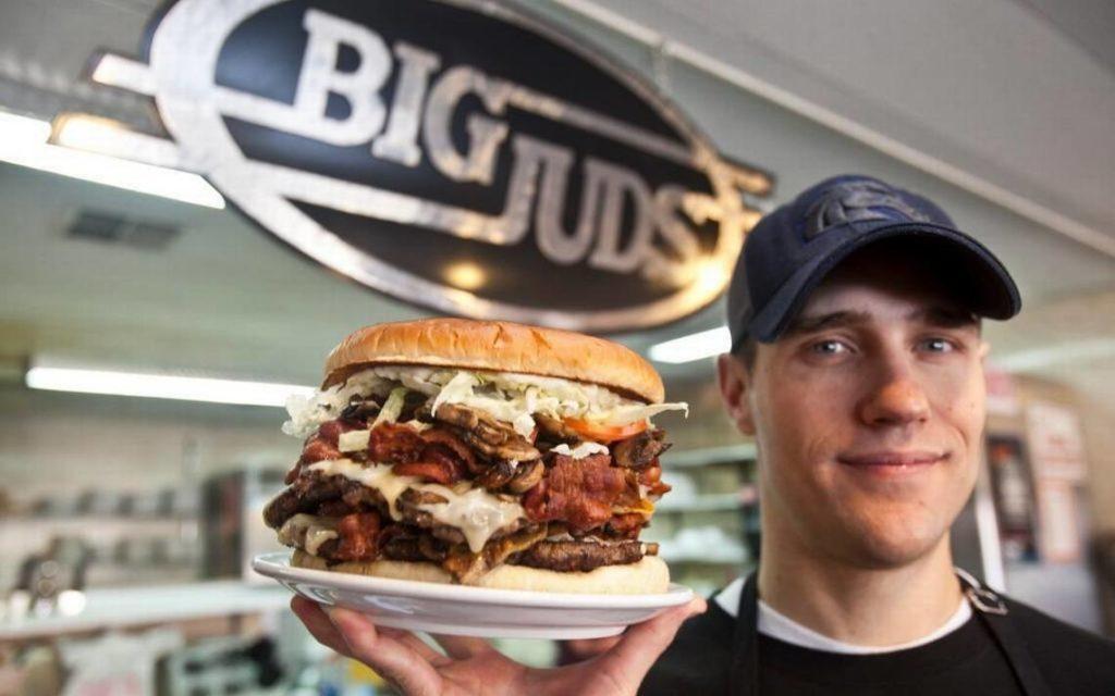 Big Jud's huge burgers.