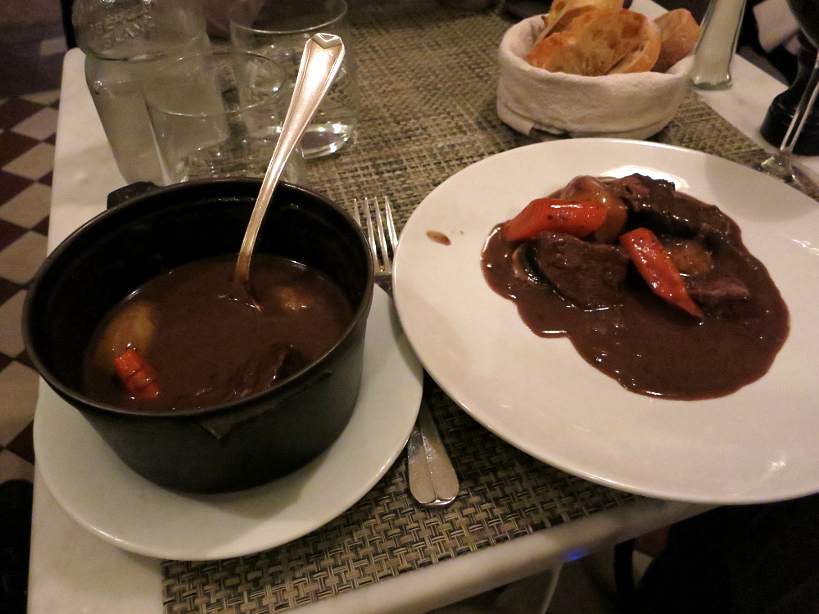 Boeuf Bourguignon at Le petit Troquet