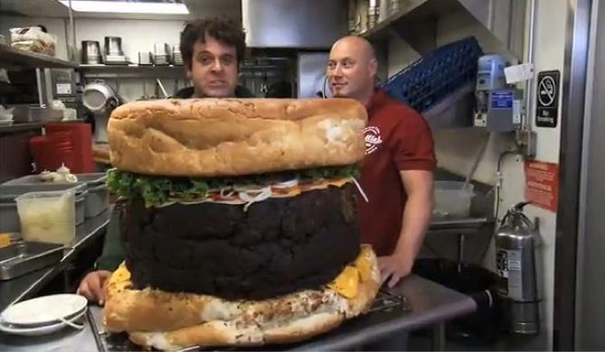 210 pounds burger