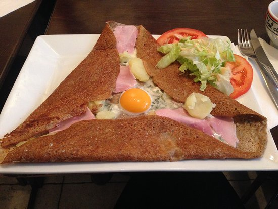Typical Galette Bretonne at Le Crépuscule