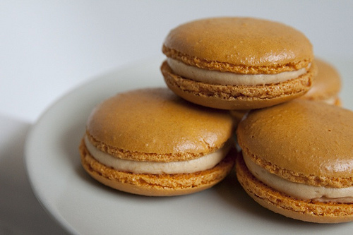 Pierre Herme's Salted Caramel Macarons