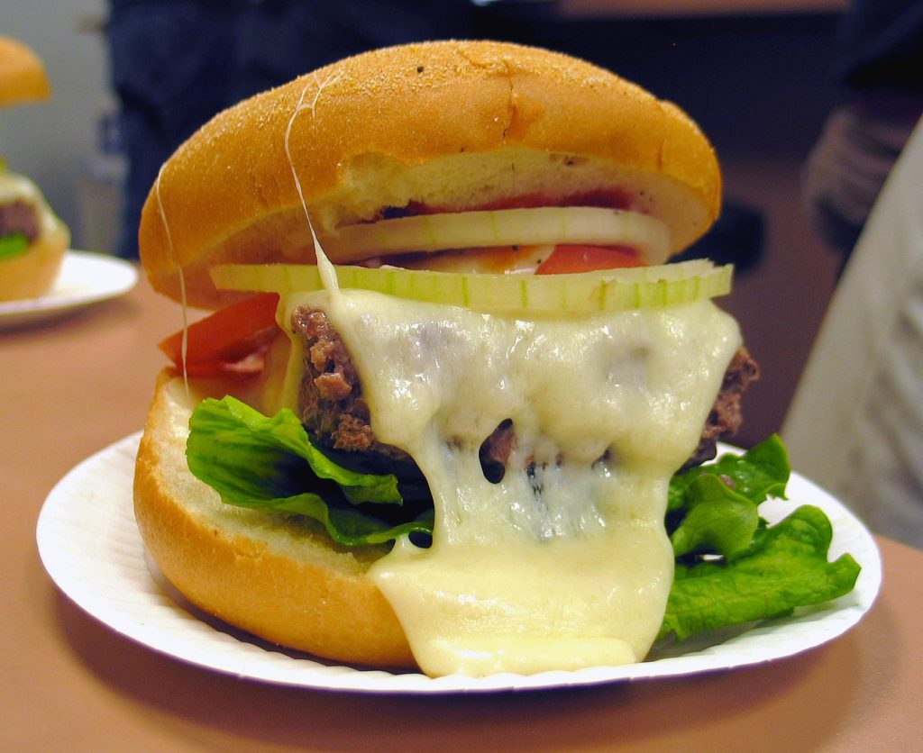 Ted's famous burger