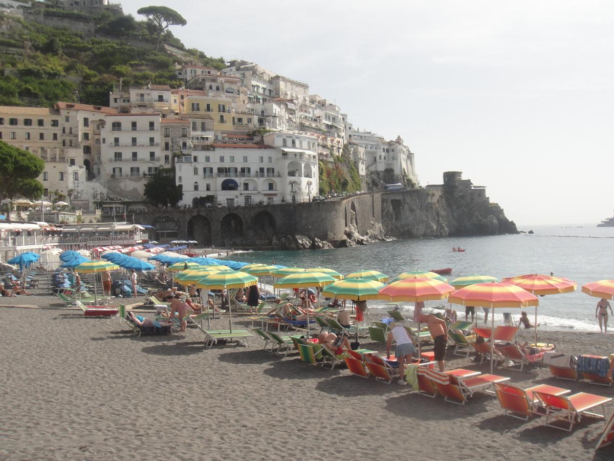 Amalfi's beach