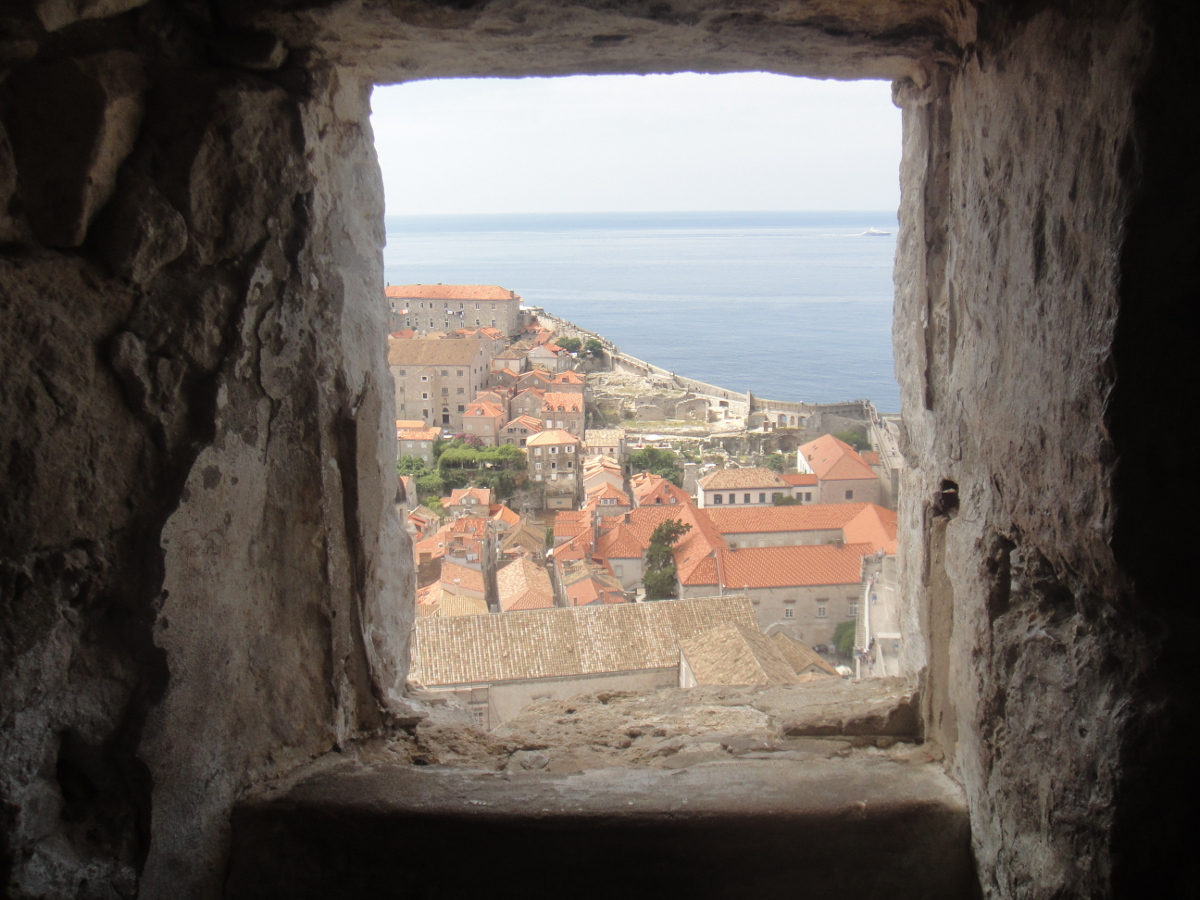 Dubrovnik's view from the its ancient walls