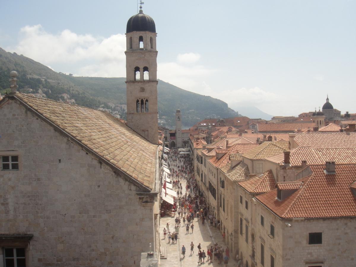 Stradun, Dubrovnik's main street.