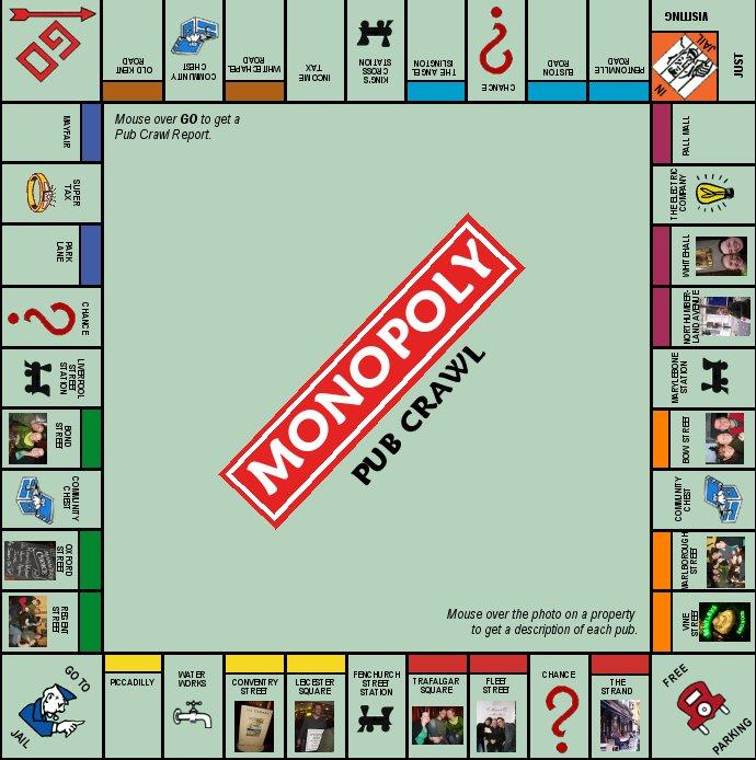 Monopoly Pub Crawl