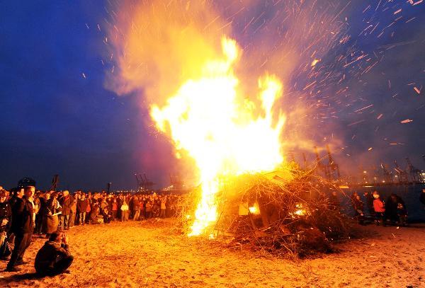 Easter Bonfire in Hamburg