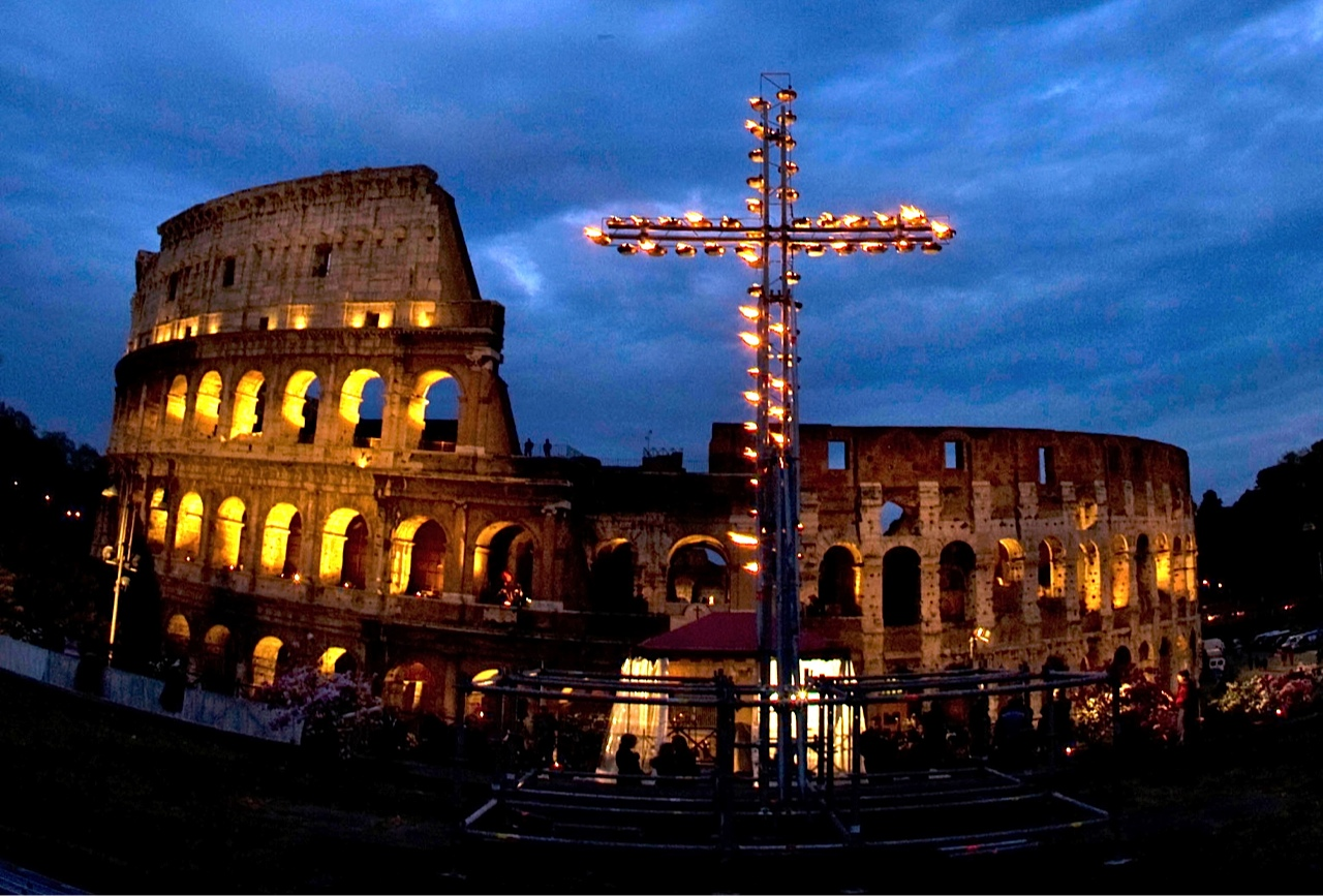 Via Crucis at the Colosseum