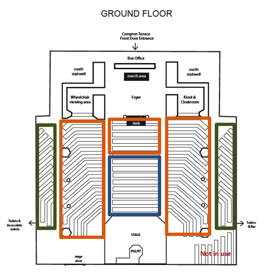 Union Chapel Seating Plan