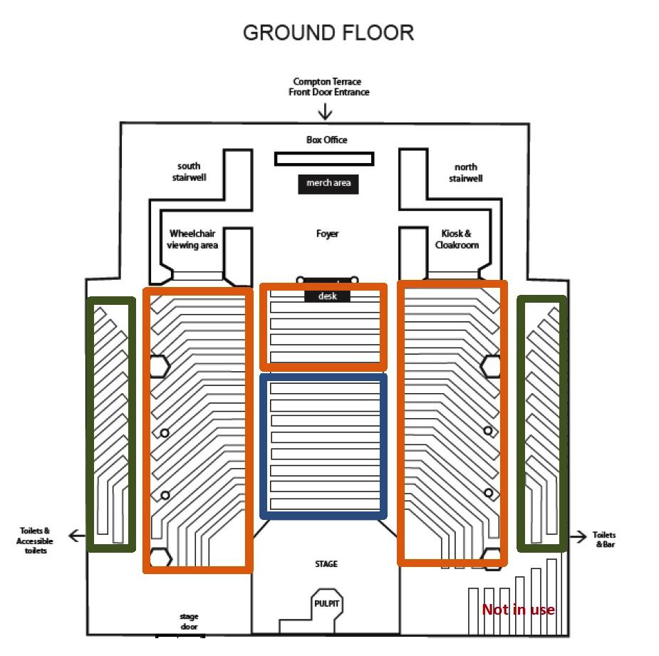 Union Chapel Seating Plan