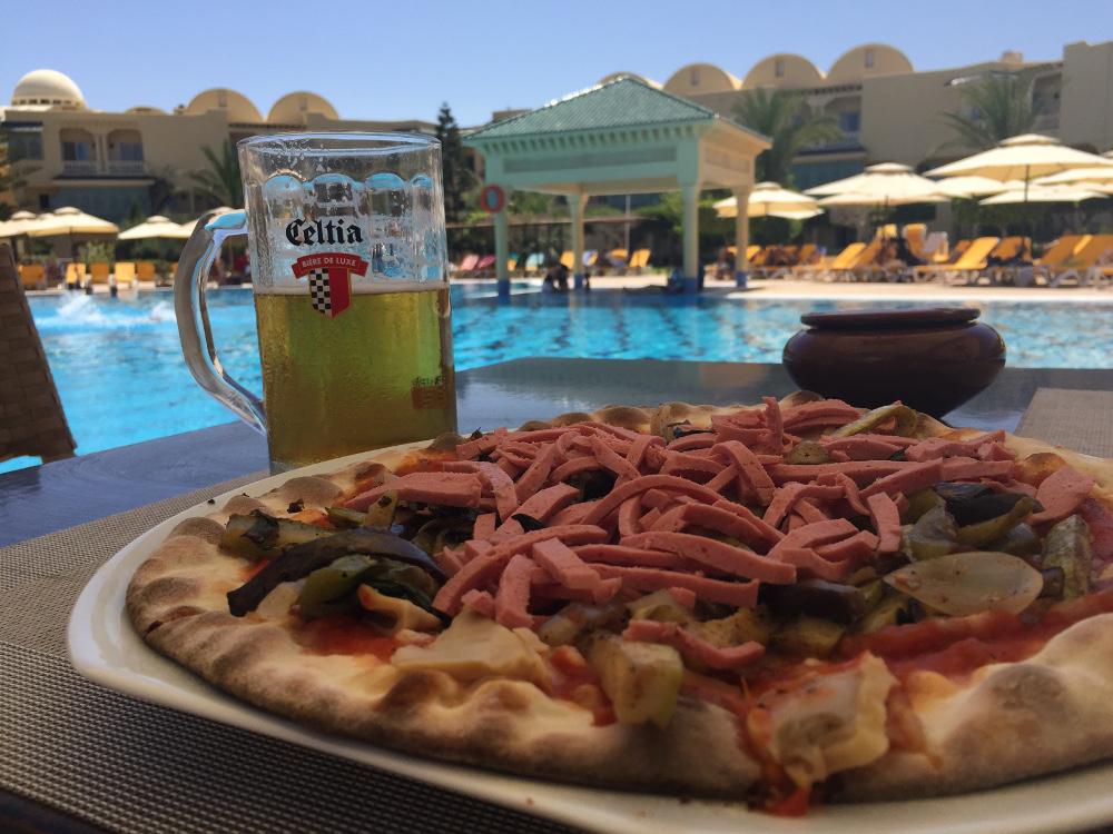 Celtia and pizza