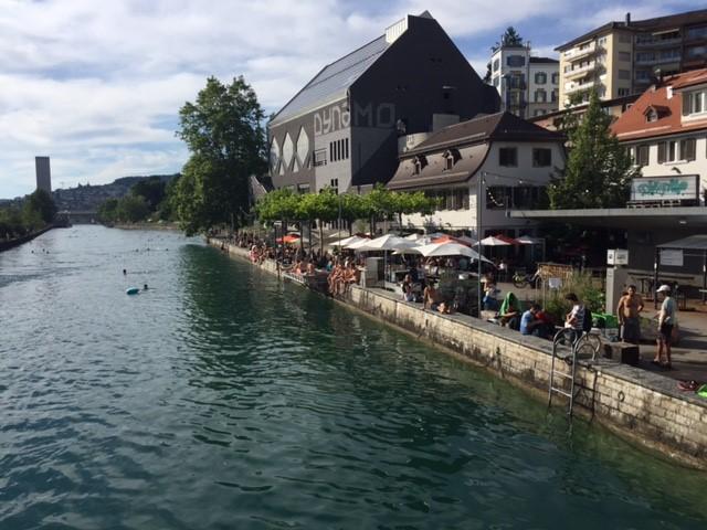 Chuchi am Wasser and Dynamo VIew from the Bridge