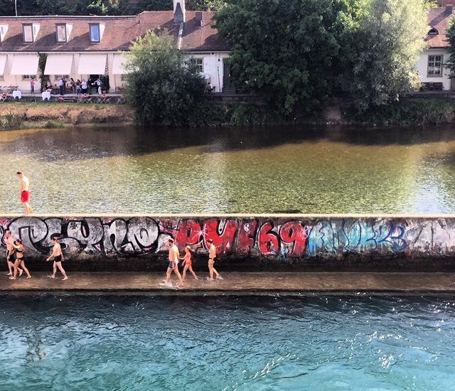 Swimming in the Limmat River