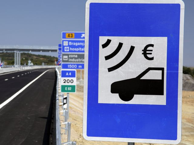 Electronic toll sign