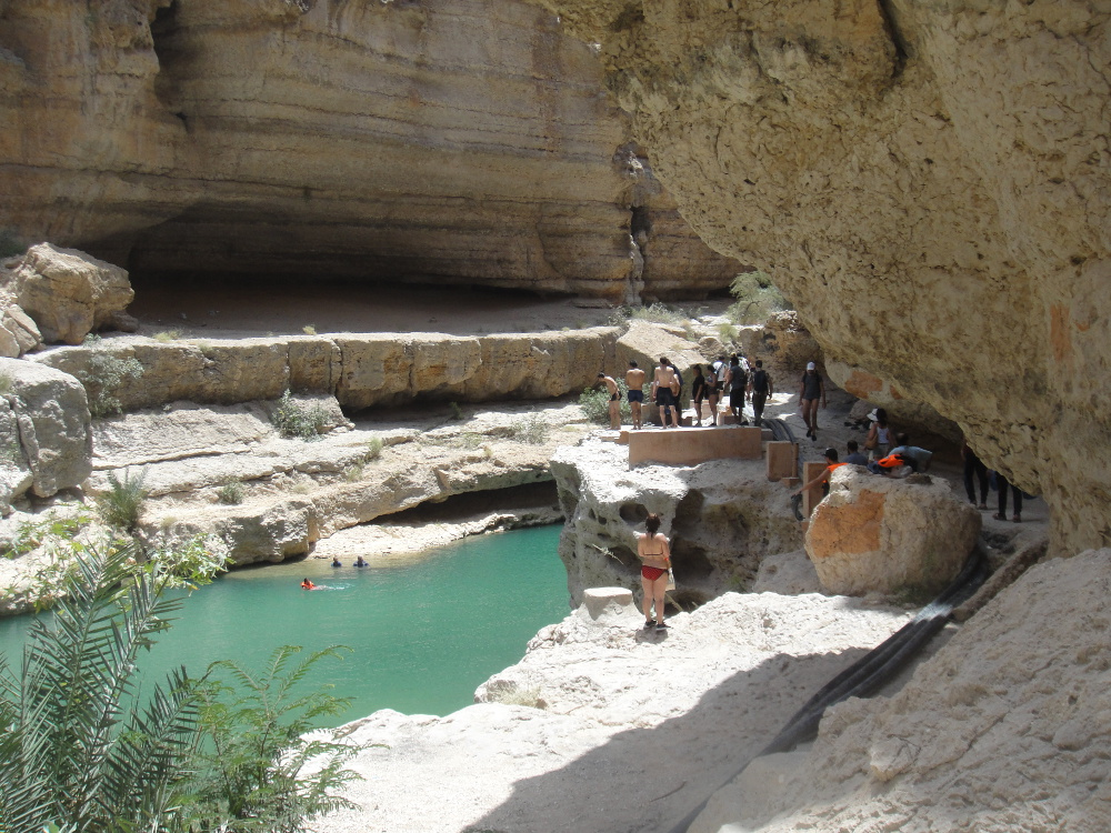 One of the natural pools of Wadi Shab