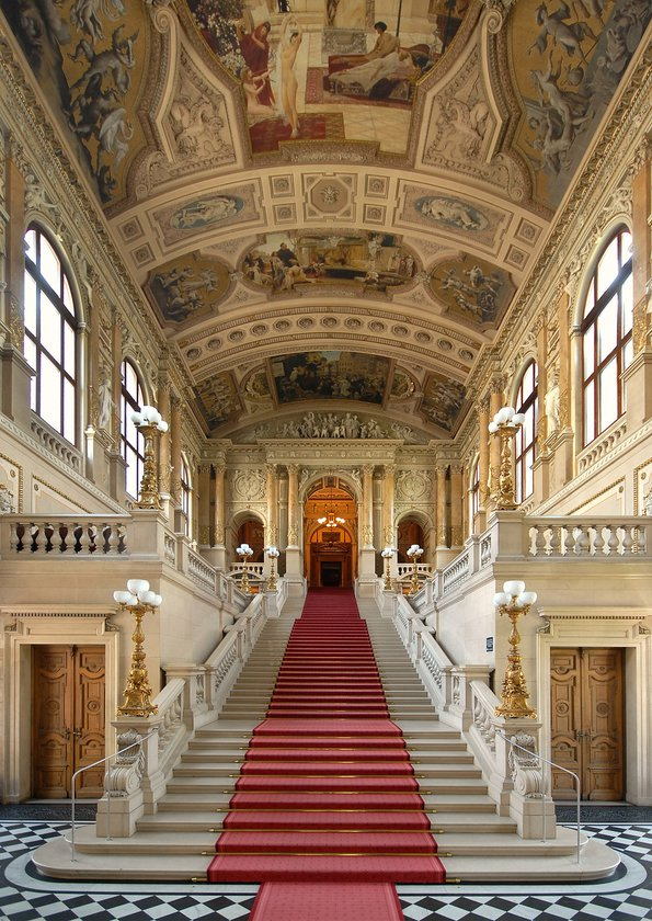 Burgtheater's grand staircase