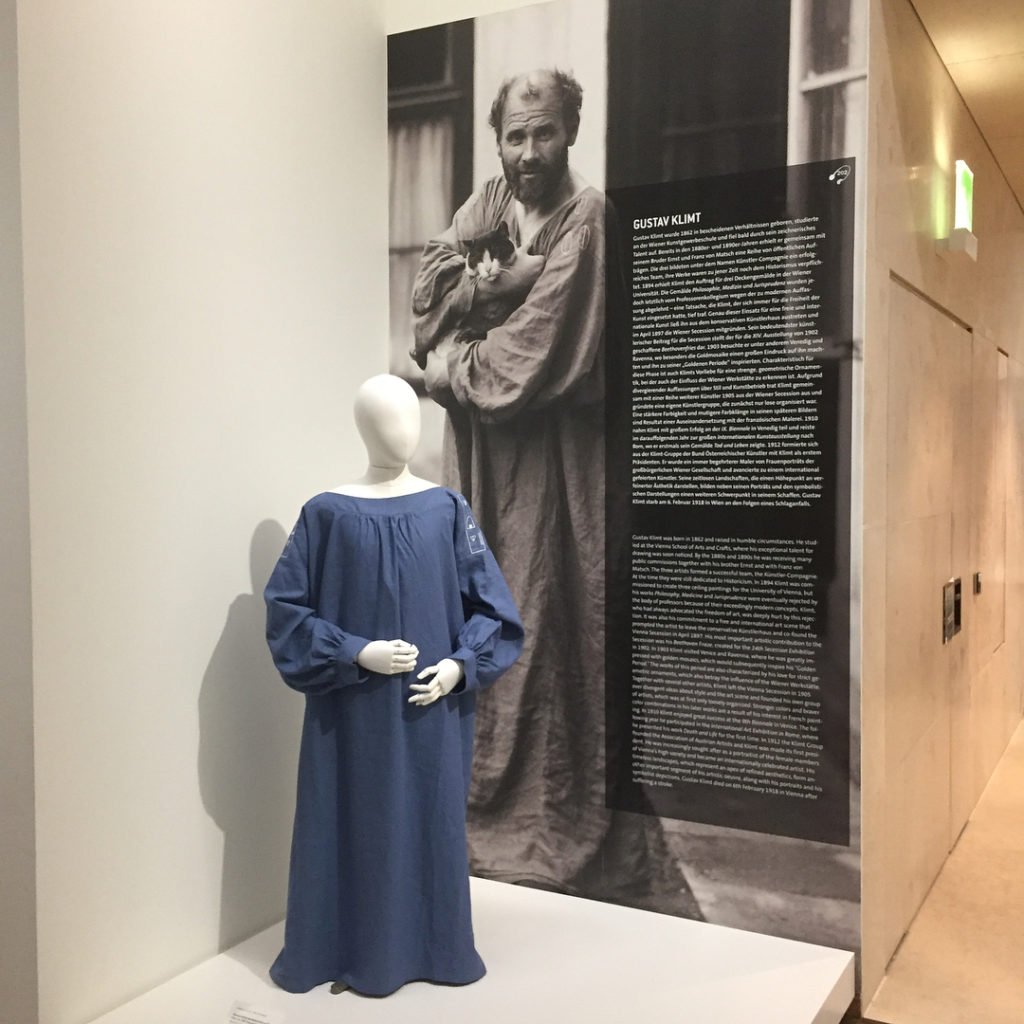 Some of Klimt's belongings at Leopold Museum