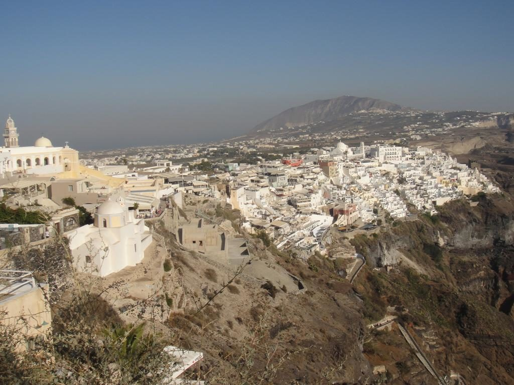 Fira at the top of the hill