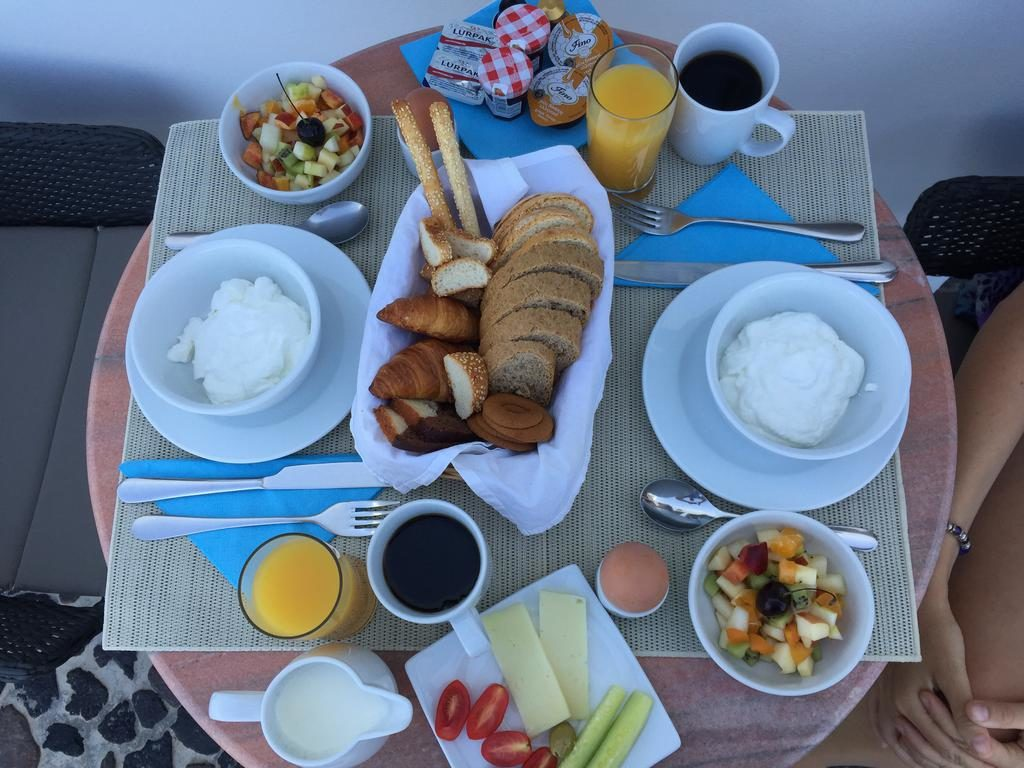 Delicious breakfast at StefaniSuites's hotel.