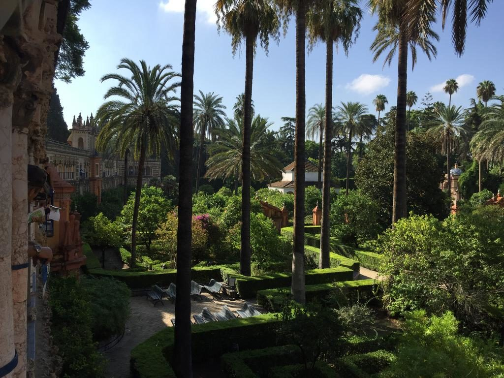 "The Royal Alcazar of Seville's (or ""Royal Alcazars of Seville"") stunning gardens"