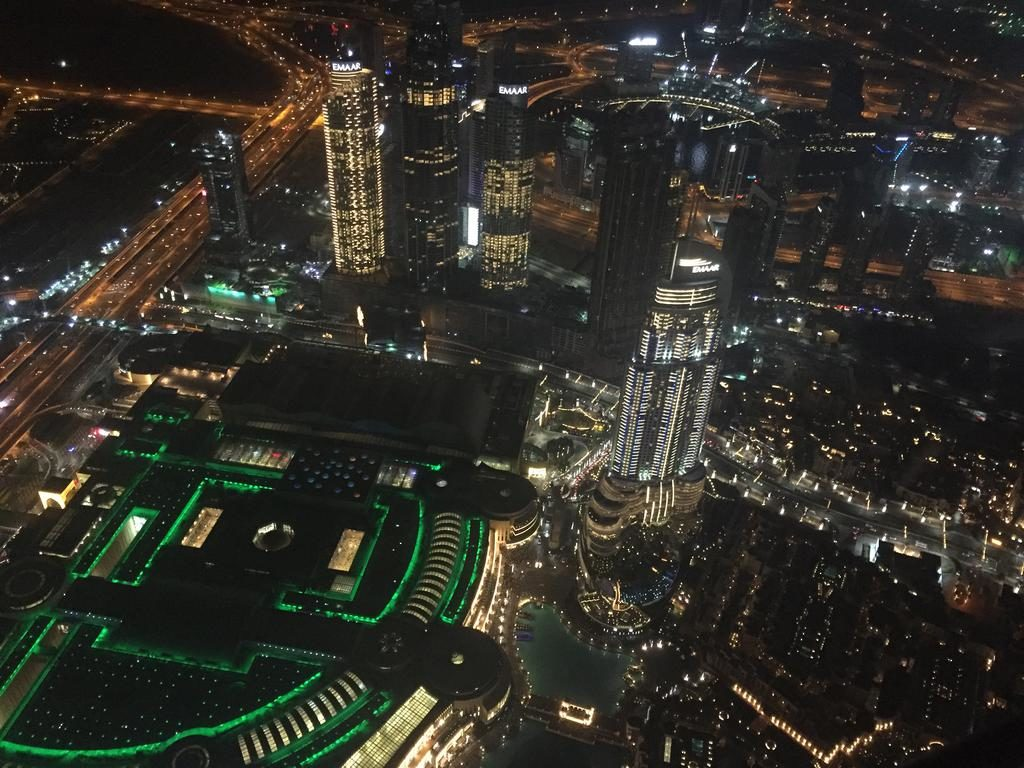 Burj Khalifa's view from the 148th-floor observation deck