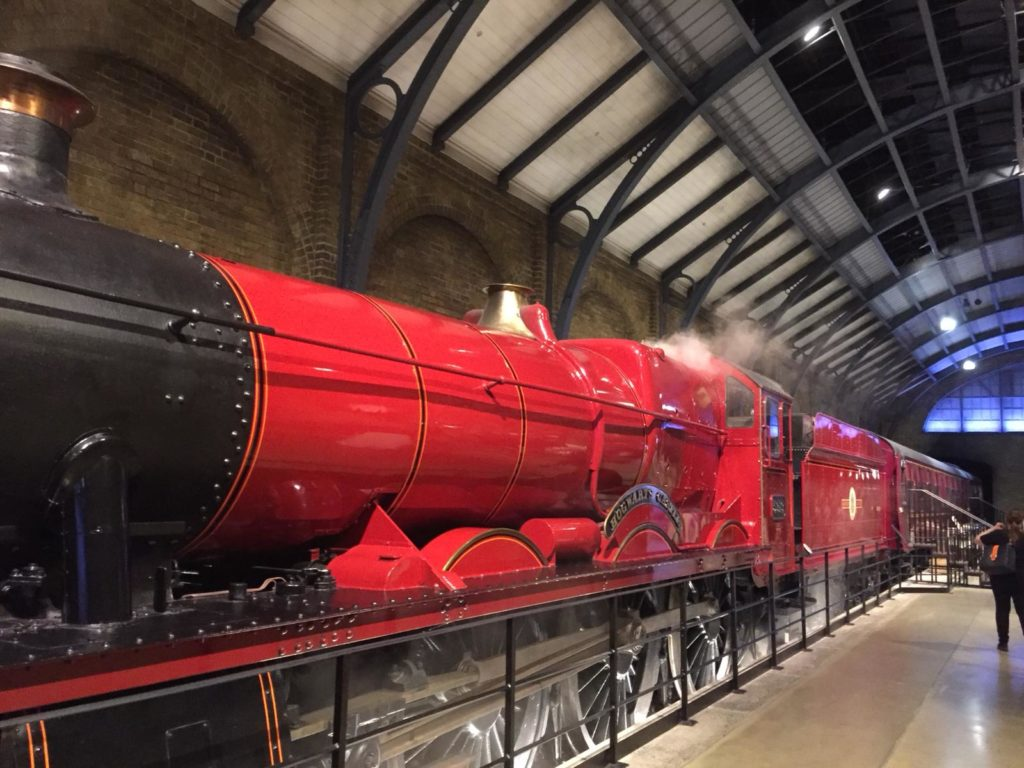 Harry Potter's Warner Bros. Studio in London. Hogwarts Express