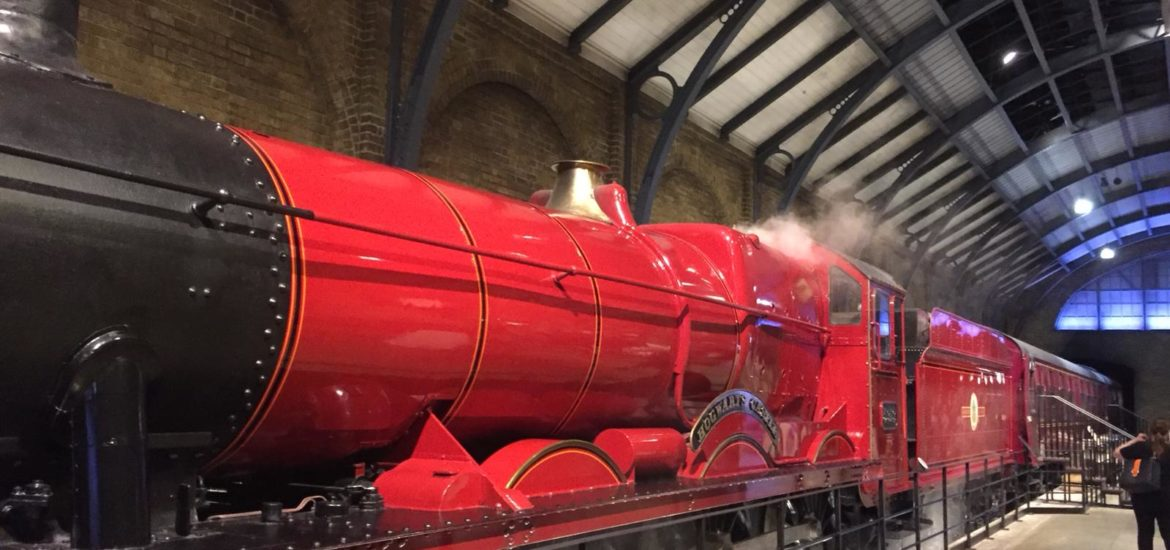 Harry Potter's Warner Bros. Studio in London. Hogwarts Express