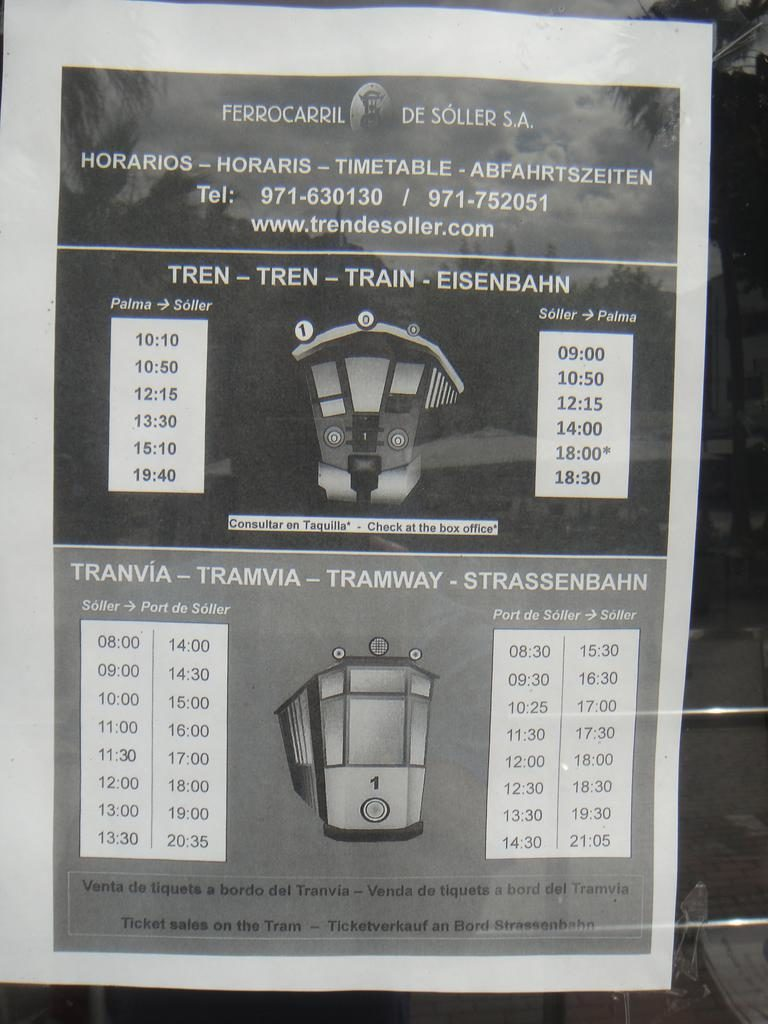 Train and Tram timetables (2019)