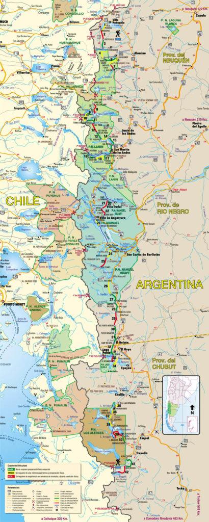 Map of Huella Andina
